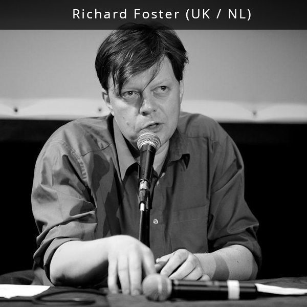 "Richard Foster is a music journalist, artist and historian. Between 2005 and 2015 he was editor in chief of Incendiary magazine. He now writes regularly for The Quietus, Louder than War, Vice (Noisey), True Faith and Luifabriek. As well as his journalist work he works as Communications Manager at WORM, Rotterdam and is co-founder of the Dutch ""existentialist nonsense"" label Smikkelbaard. He is currently researching the Dutch post-punk and punk movements. His work will be published by Cambridge Publishers and Journal of Punk and Post Punk during 2017."