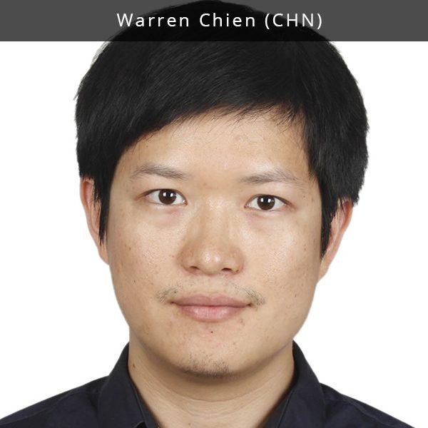Warren Chien yra koncertų organizatorius, muzikos festivalių kuratorius ir turinio strategas, dirbantis Pekine. Jis yra vienas iš nuo 2016 m. dykumoje greta Pekino organizuojamo festivalio MTA įkūrėjų bei pagrindinis programos sudarytojas. MTA festivalis sieja madingą muziką, naujausias technologijas, multimedijų meno pasirodymus, instaliacijų meno parodas. Anksčiau Warren yra bendradarbiavęs su Zhangbei InMusic bei Music FunHill festivaliais. Be to, jis yra pametęs galvą dėl gyvos muzikos renginių aprašymo skaitmeninėse medijose. Warren yra ir gyvai muzikai skirtos video platformos YEMA Live turinio direktorius. YEMA Live yra viena svarbiausių nepriklausomų muzikos kūrėjų platformų Kinijoje.